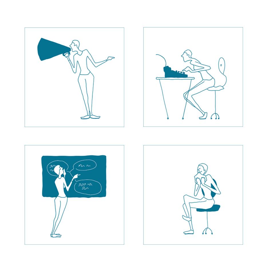 illustraties organisatie ondersteuning